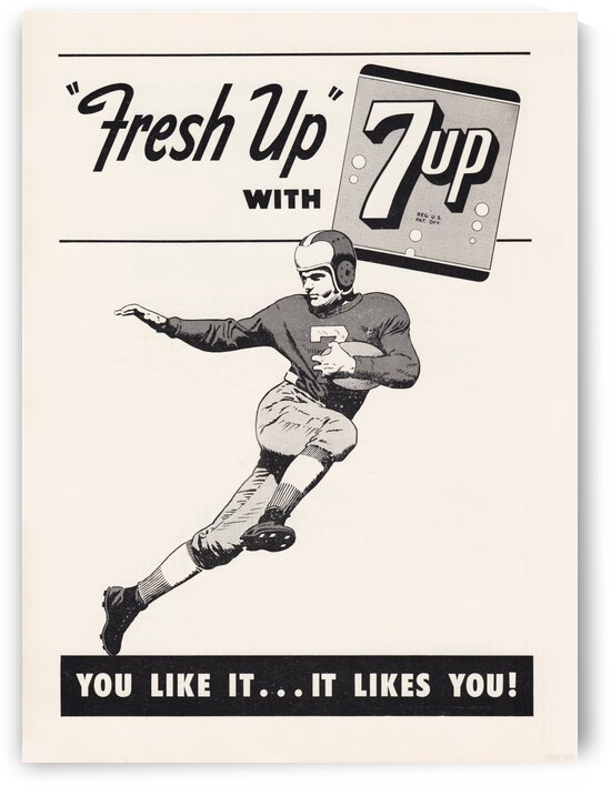7 UP Vintage Football Ad by Row One Brand