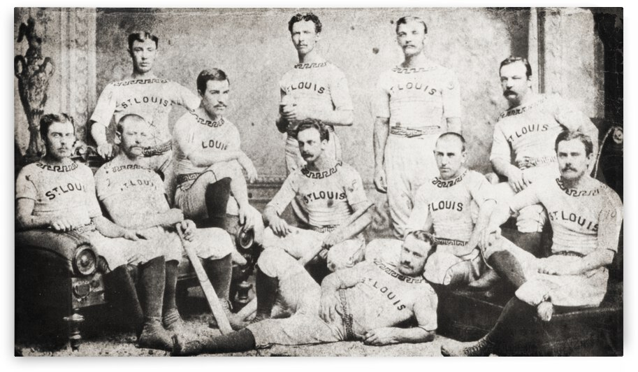 1876 St. Louis Cardinals Team Photo by Row One Brand