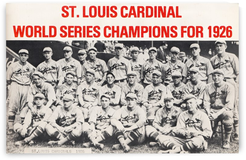 1926 St. Louis Cardinals Team Photo by Row One Brand