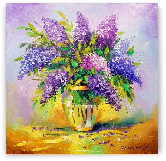 Bouquet of lilac in a vase  by Olha Darchuk