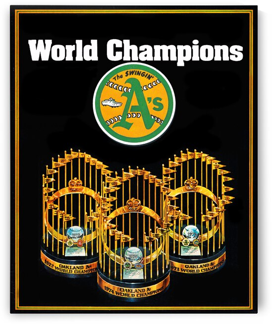 1975 Oakland Athletics World Champions Baseball Poster by Row One Brand