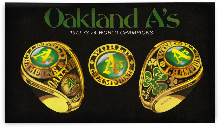 1975 Oakland Baseball Championship Rings by Row One Brand