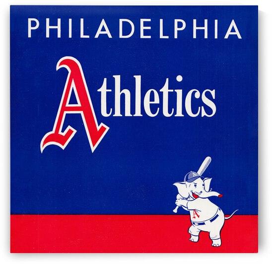 1951 Philadelphia Athletics Vintage Art by Row One Brand