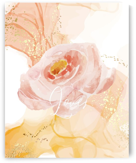 Pink Floral Love by Living Art