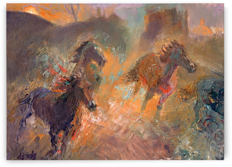 Wild Horses Sun Dust by Daryl Urig