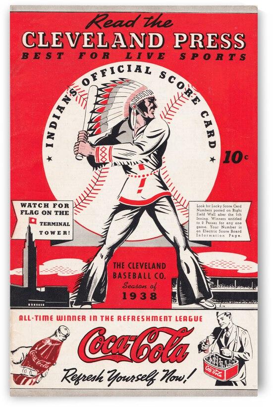 1938 Cleveland Indians Scorecard Art by Row One Brand