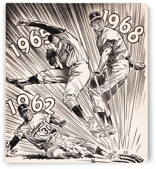 1971 LA Dodgers Baseball Poster Artist Karl Hubenthal by Row One Brand
