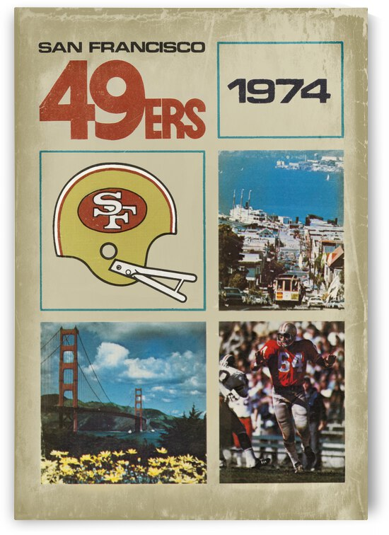 1974 San Francisco 49ers Retro Football Poster by Row One Brand