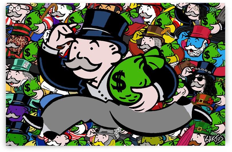 All Mr Monopoly by Kaktus Art