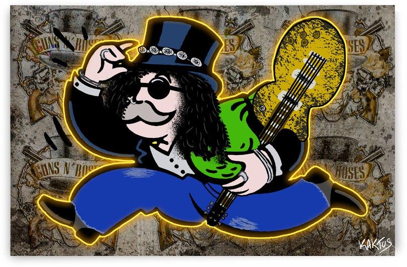 Mr Monopoly Slash by Kaktus Art