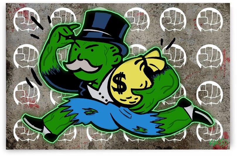 Mr Monopoly Hulk by Kaktus Art