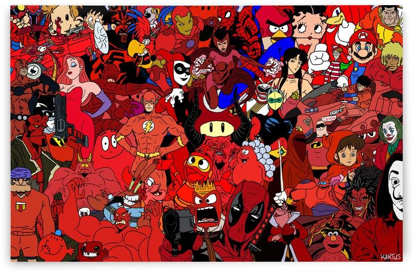 Rassemblement de Personnages  Rouge by Kaktus Art