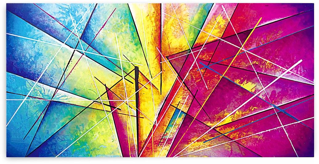 Abstract Art Britto - QB069 by SIDINEI BRITO