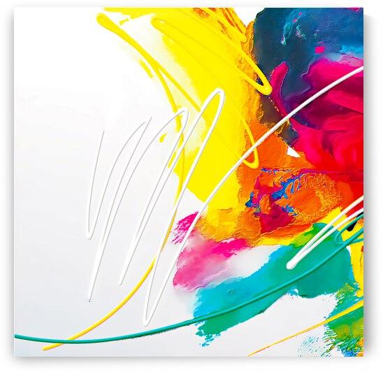Abstract Art Britto - QB80A by SIDINEI BRITO