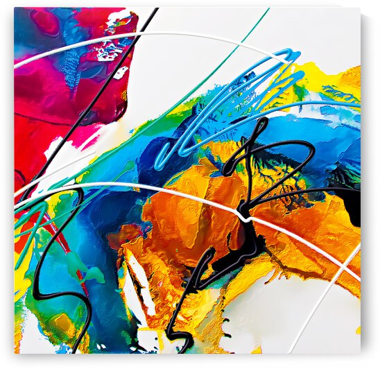 Abstract Art Britto - QB80B by SIDINEI BRITO