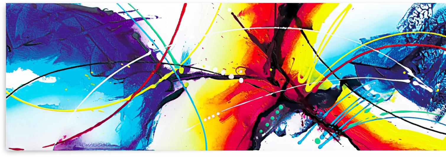 Abstract Art Britto - QB084 by SIDINEI BRITO