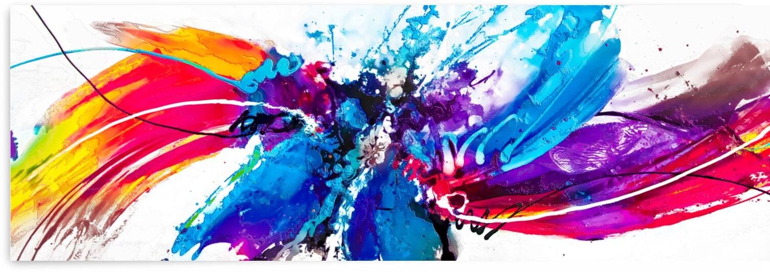 Abstract Art Britto - QB197 by SIDINEI BRITO