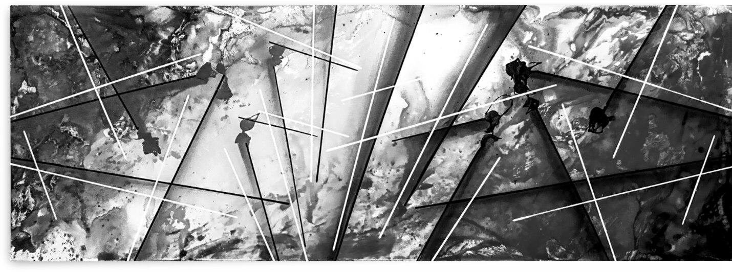 Abstract Black White Britto QB202 by SIDINEI BRITO