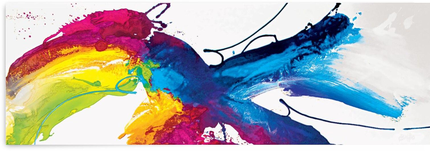 Abstract Art Britto - QB216 by SIDINEI BRITO