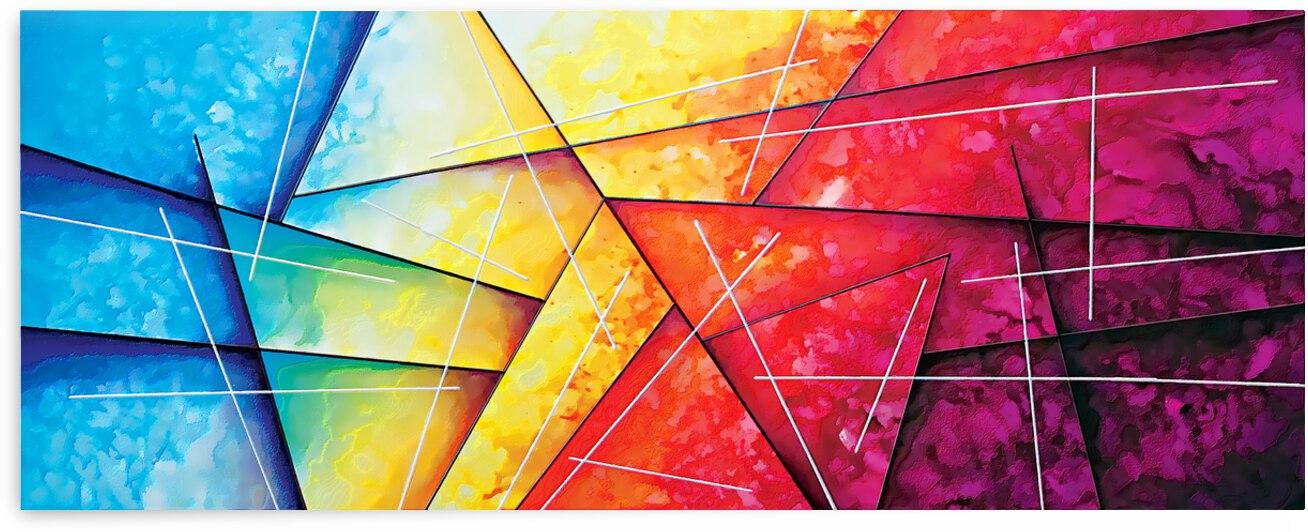 Abstract Art Britto - QB237 by SIDINEI BRITO
