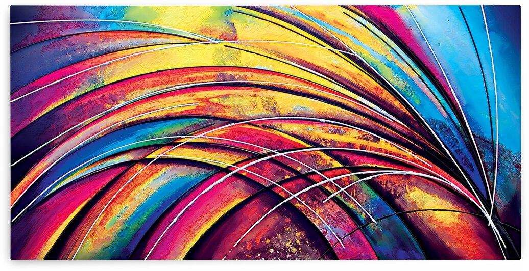 Abstract Art Britto - QB257 by SIDINEI BRITO
