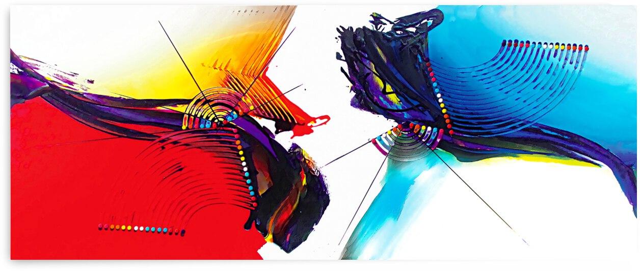 Abstract Art Britto - QB266 by SIDINEI BRITO