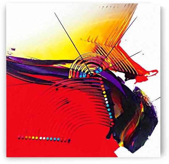 Abstract Art Britto - QB266A by SIDINEI BRITO