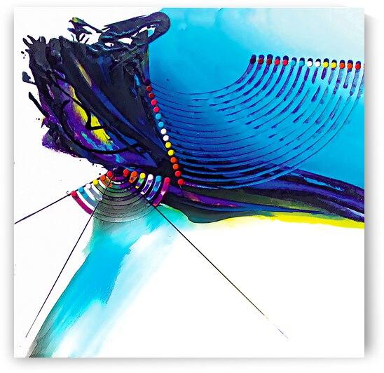 Abstract Art Britto - QB266B by SIDINEI BRITO