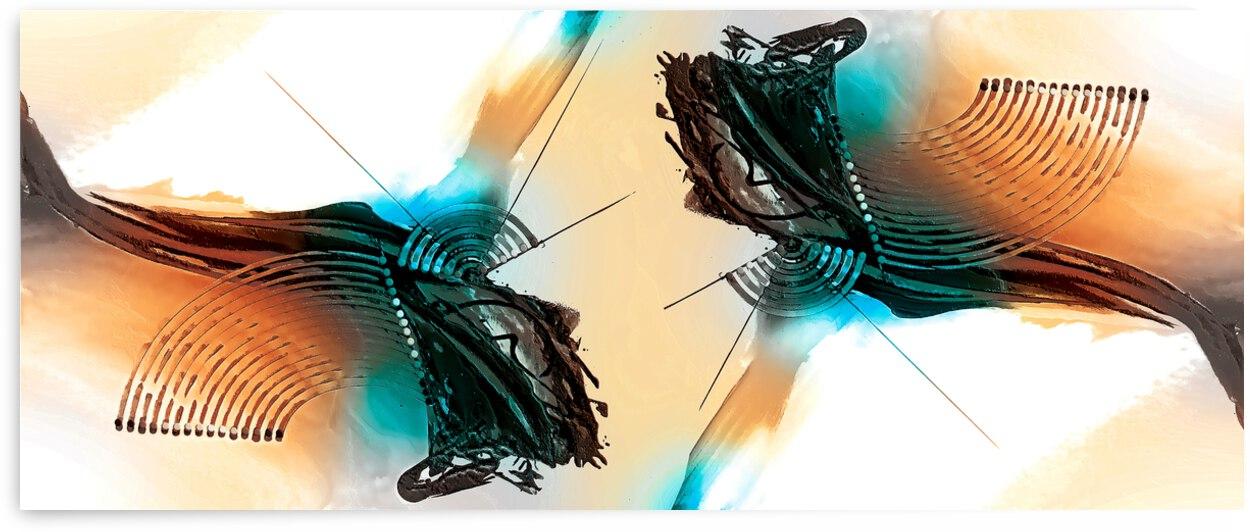 Abstract Art Britto - QB272 by SIDINEI BRITO