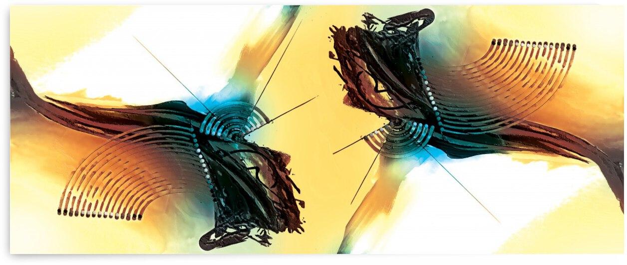 Abstract Art Britto - QB273 by SIDINEI BRITO