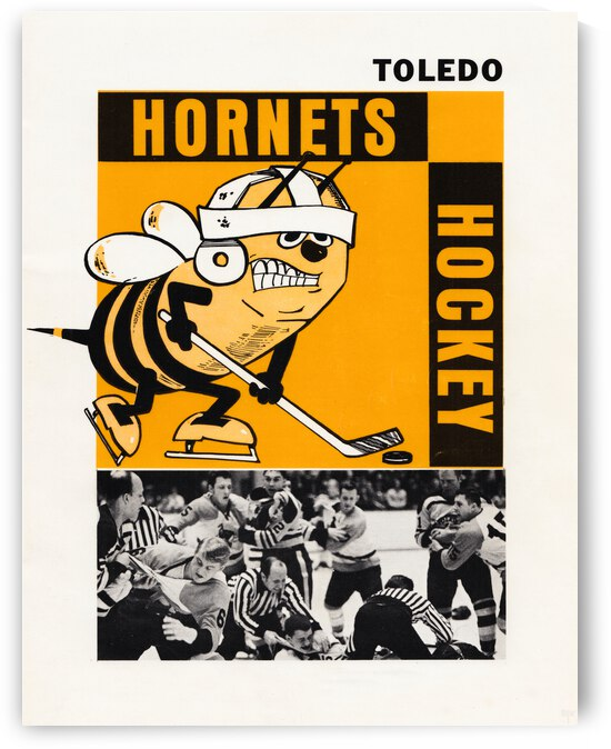 1970 Toledo Hornets Hockey Poster by Row One Brand