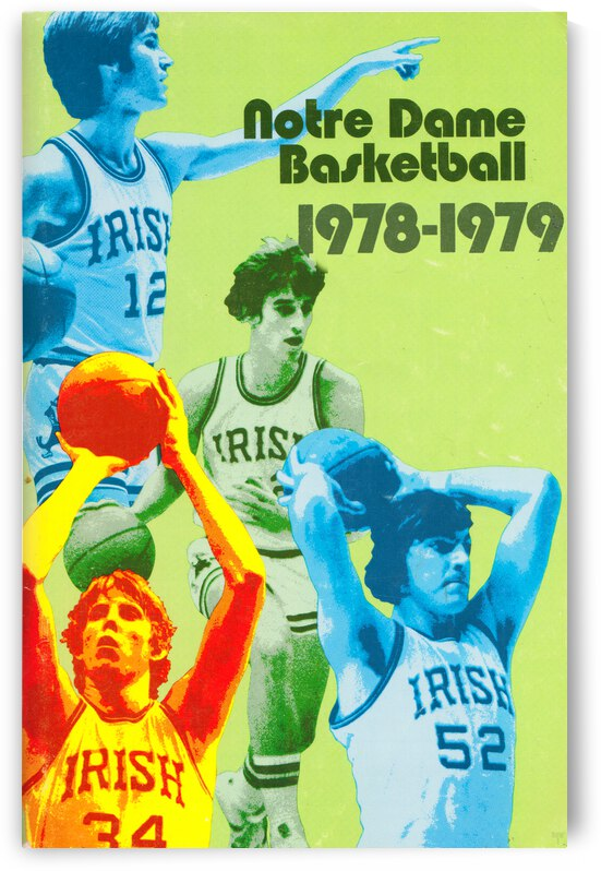 1978 Notre Dame Retro Basketball Poster by Row One Brand