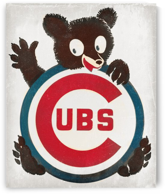 Vintage Seventies Cubs Art by Row One Brand