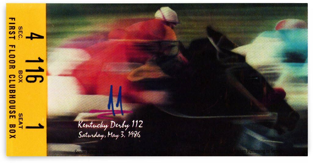 1986 Kentucky Derby Ticket Stub Canvas by Row One Brand
