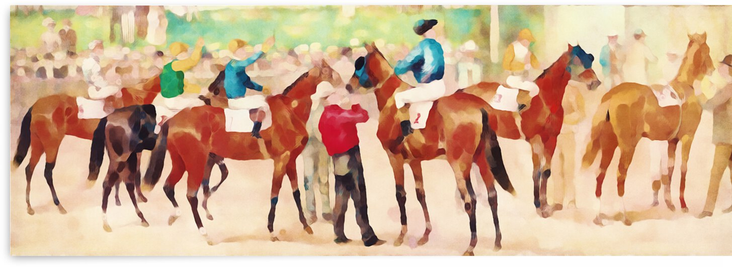 Vintage Horse Racing Art by Row One Brand
