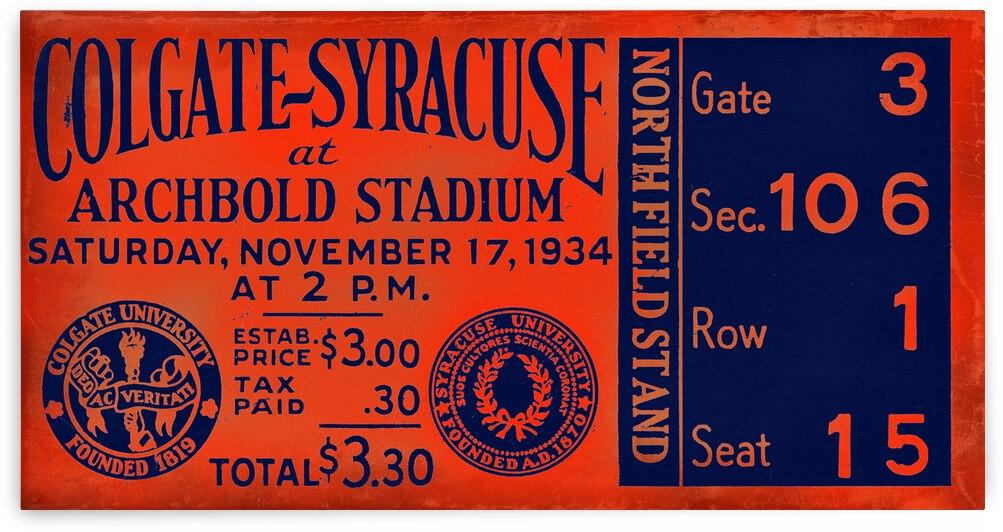 1934 Colgate vs. Syracuse Ticket Remix by Row One Brand