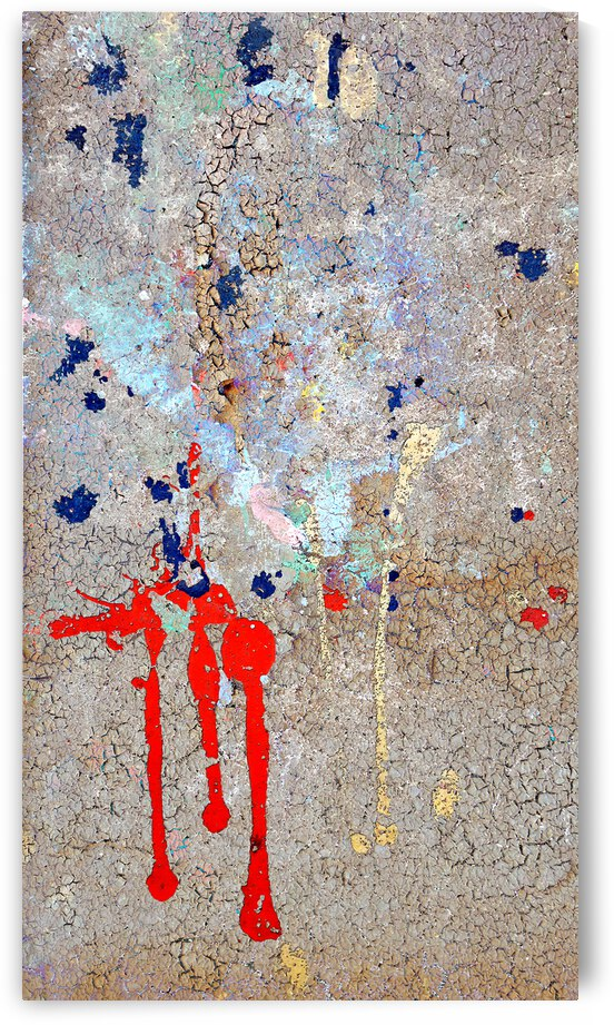 6 Abstract on Cement 2 w screen layer by Lawrence Costales