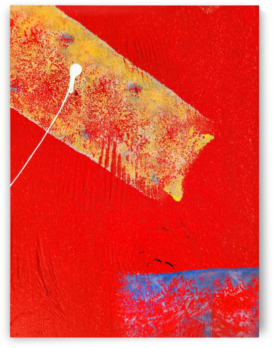 Yellow Paint on Red Wall by Lawrence Costales