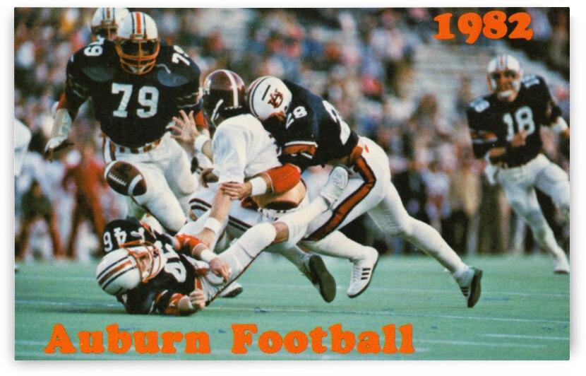 1982 Auburn Football Poster Row 1 by Row One Brand