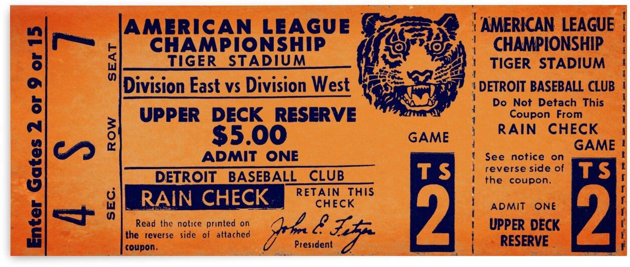 1969 Detroit Tigers Phantom Ticket by Row One Brand