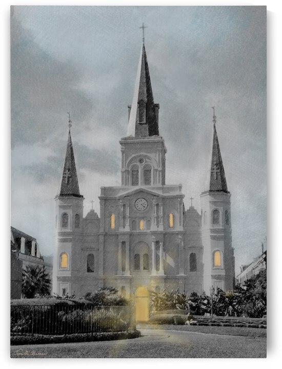 St Louis Cathedral - New Orleans by Camille Barnes