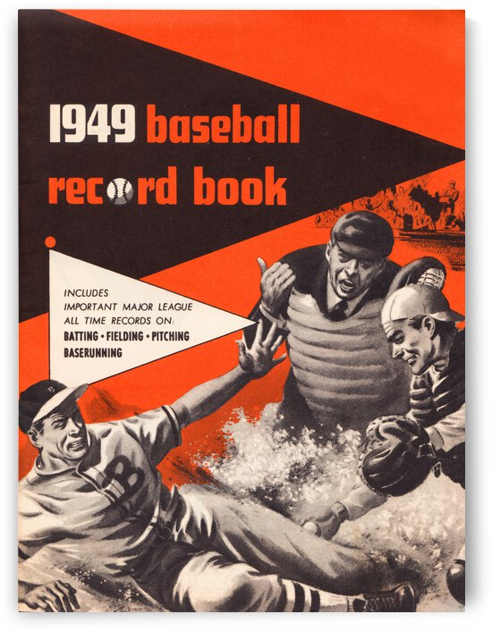 1949 Baseball Record Book Cover Art by Row One Brand