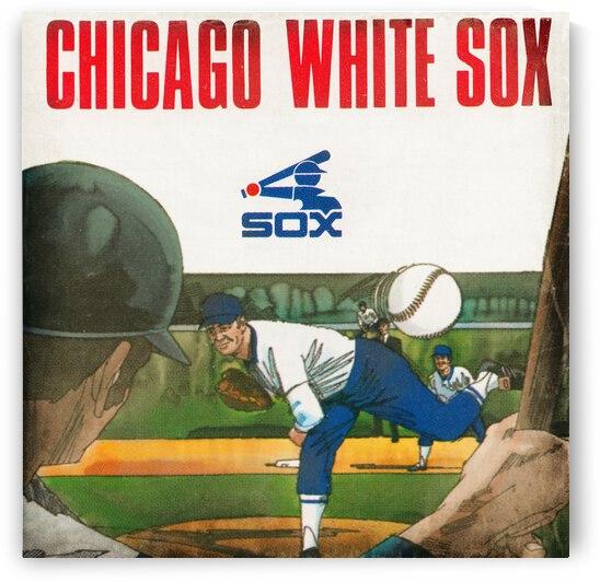 1977 Chicago White Sox Retro Baseball Art by Row One Brand