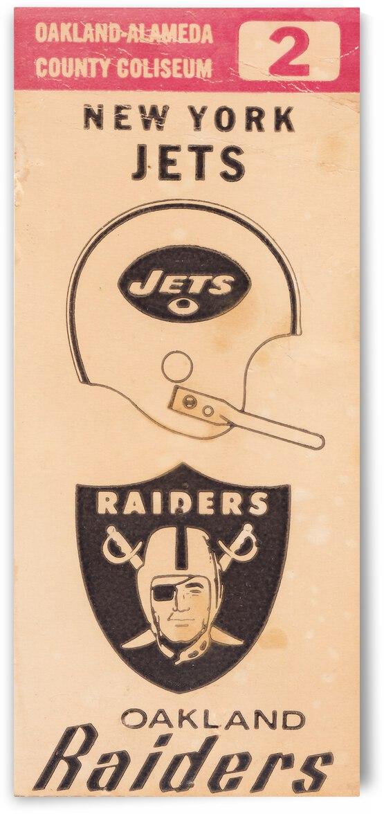 1971 Oakland Raiders vs. New York Jets Ticket Stub Art by Row One Brand