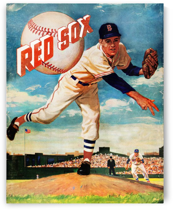 1959 Boston Red Sox Vintage Art by Row One Brand