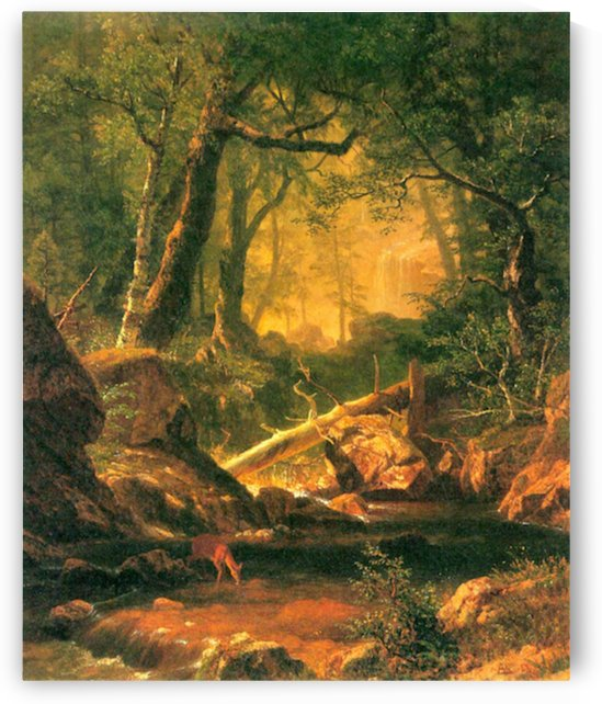 White Mountains, New Hampshire 2 by Bierstadt by Bierstadt