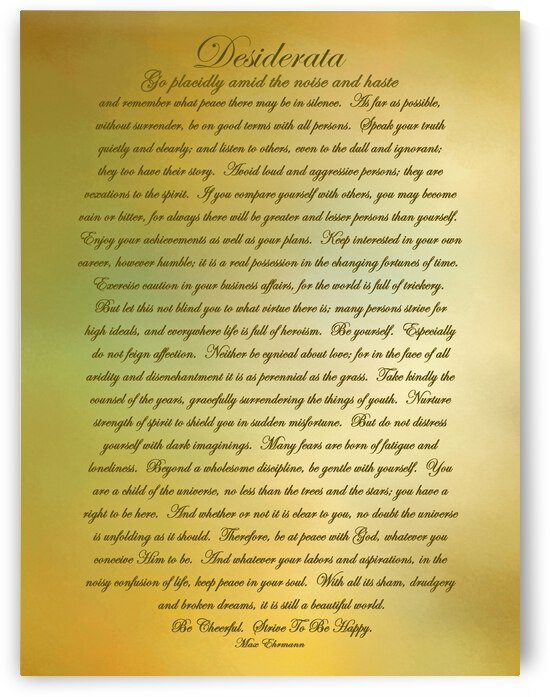 Desiderata Gold by HH Photography of Florida