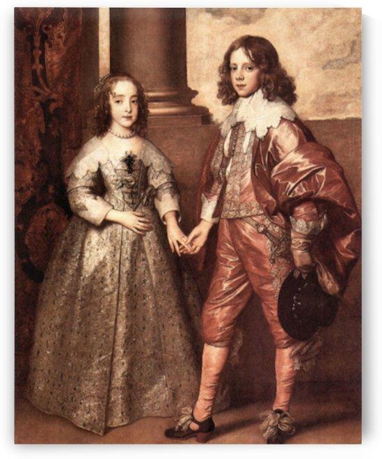 William of Orange with his future bride by Van Dyck by Van Dyck