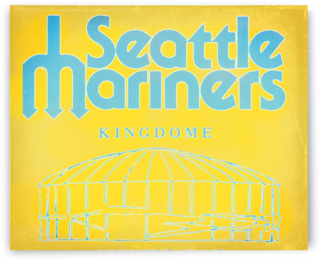 1977 Seattle Mariners Kingdome Art by Row One Brand
