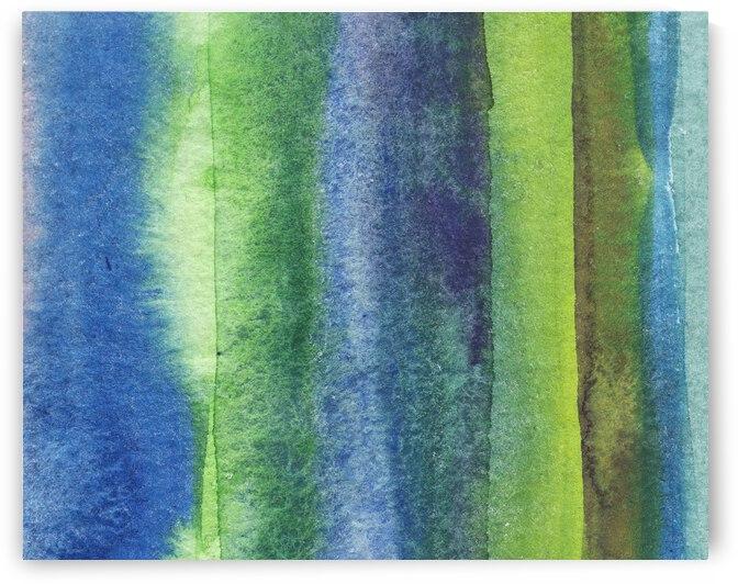 Ocean And Sea Beach Coastal Art Organic Watercolor Abstract Lines IV by Irina Sztukowski
